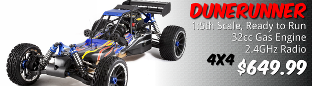 redcat rampage dune runner 1/5 scale gas rc buggy