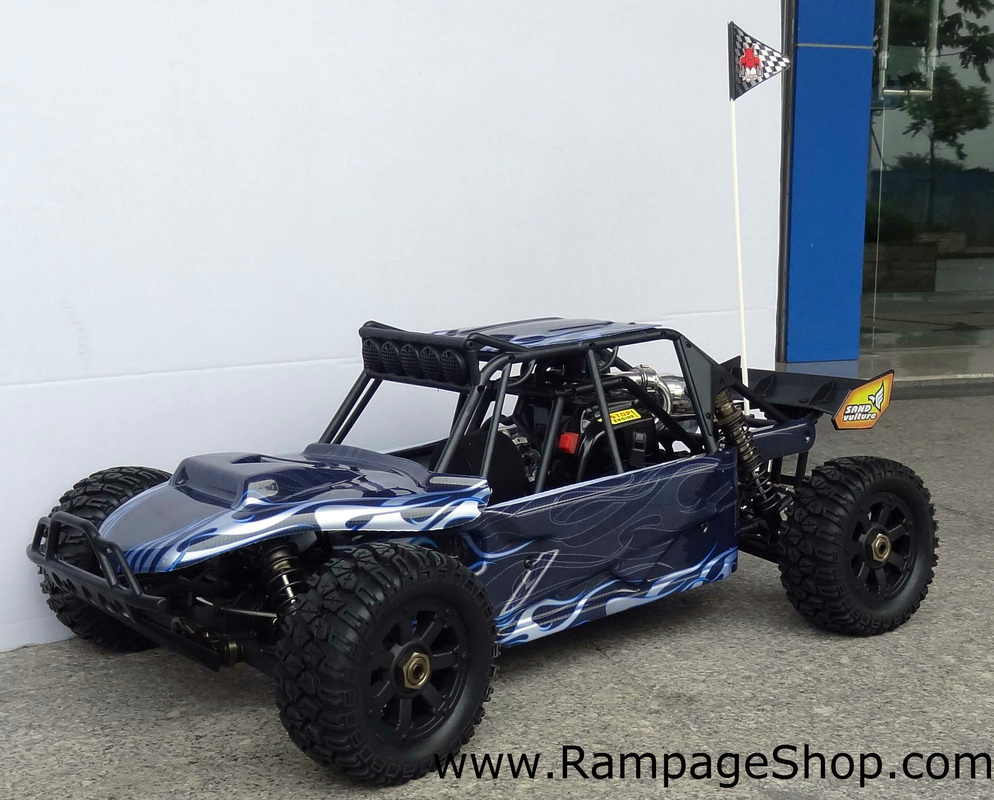 redcat racing rampage chimera 1/5 scale gas rc sand rail buggy