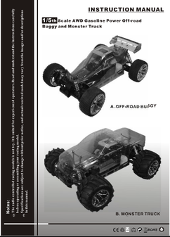 redcat rampage mt PRO instruction manual
