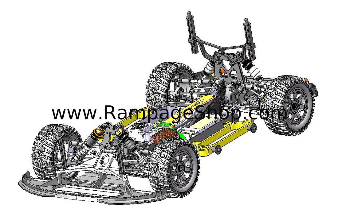 redcat racing rampage xr ep pro 1/5 brushless rally car