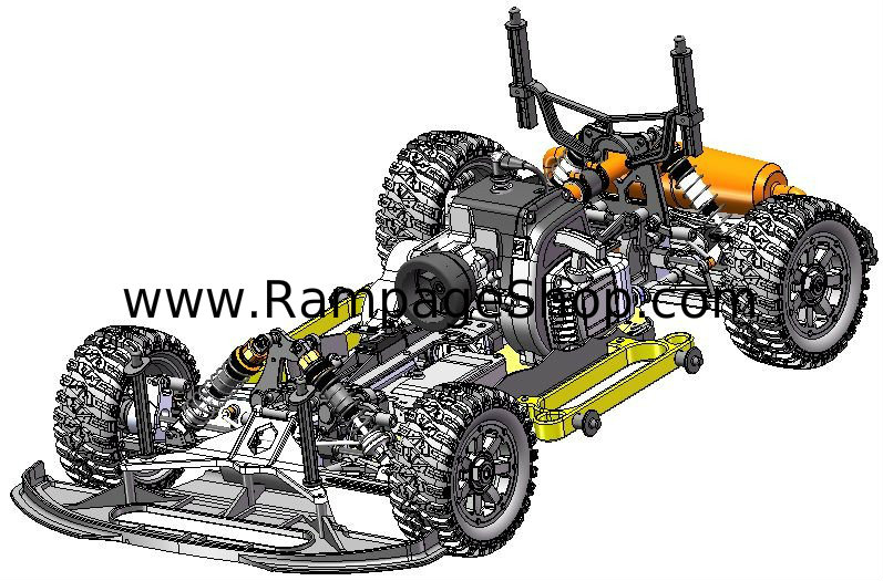 redcat racing rampage xr 1/5 gas rally car